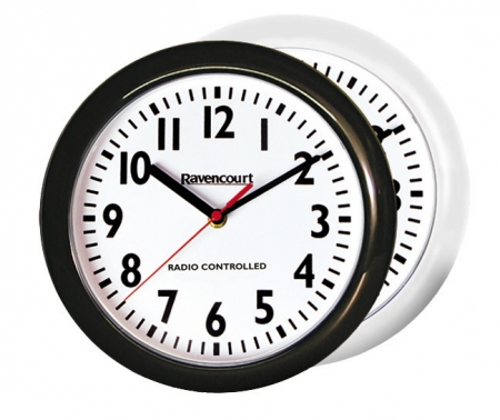 Radio controlled wall clock - black