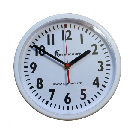 Radio controlled wall clock - white