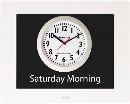 Rosebud Reminder Clock - White
