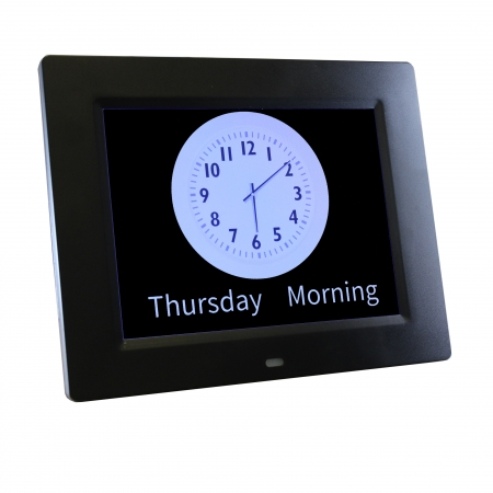 Rosebud Reminder Clock - Available in Black and White