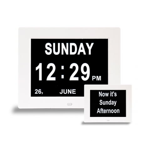 Dementia Day Clock 2-in-1 Calendar and Clock - 8 inch