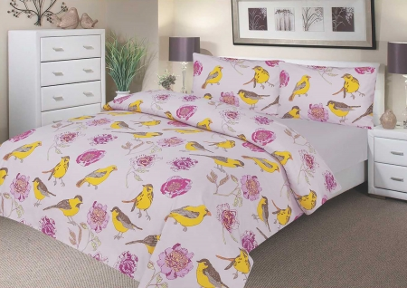Double Duvet Set - 100% Waterproof - Pink Peony