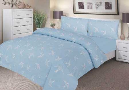 Single Duvet Set - Blue Swallow