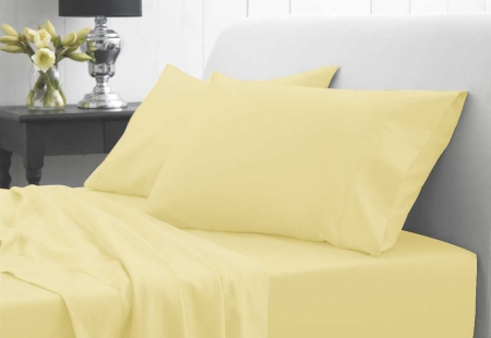 Double Fitted Sheet - waterproof - Yellow