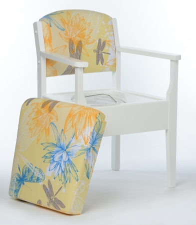 Luxury Commode Chair - Yellow Waterlily