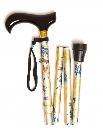 Folding Walking Stick - Yellow Waterlily