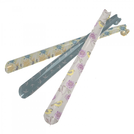 Decorated Extended Shoe Horn - Yellow Waterlily