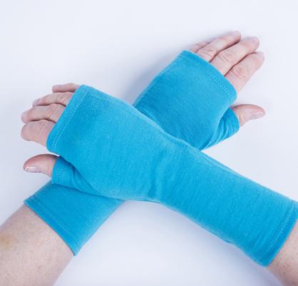 Merino Fingerless Mitts - Turquoise