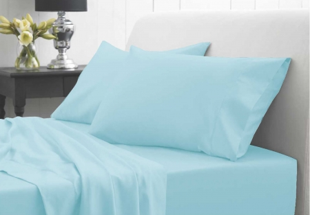 100% Waterproof Pillowcase Set (inc 2 x Pillowcases) - Sky Blue