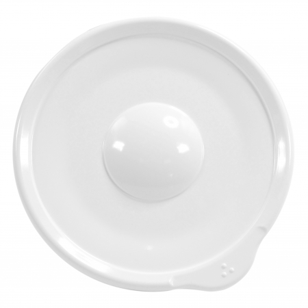 Dalebrook Omni White Saucer - White Rim - 140x130x18mm - Set of 12