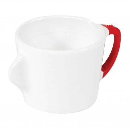 Dalebrook Omni White Cup - Red Handle - 200ml 130x90x70mm - Set of 12