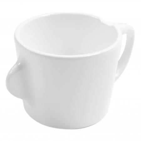 Dalebrook Omni White Cup - White Handle - 200ml 130x90x70mm - Set of 12
