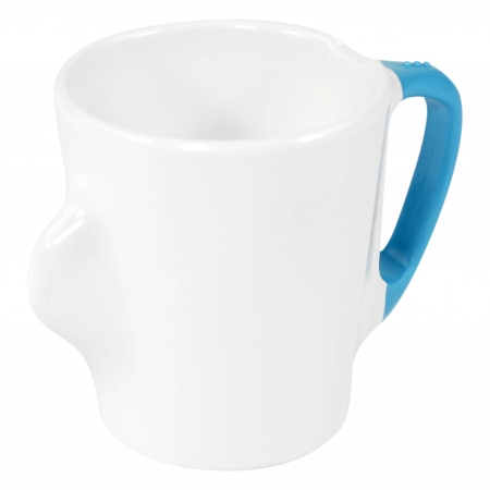 Dalebrook Omni White Mugs - Different Coloured Handles Available - 300ml 130x90x100mm - Set of 12