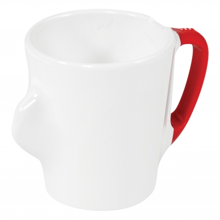 Dalebrook Omni White Mug - Red Handle - 300ml 130x90x100mm - Set of 12