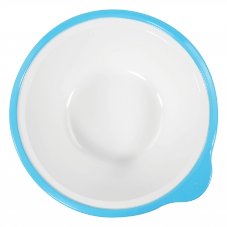 Dalebrook Omni White Bowls - Different Coloured Rims Available - 400ml 180x170x50mm - Set of 12