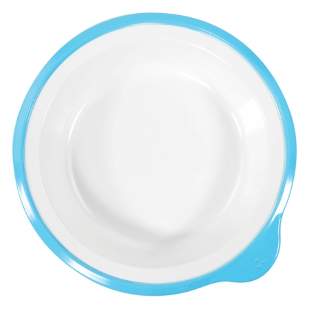 Dalebrook Omni Small Deep Plates in White - Different Coloured Rims Available - 180x170x35mm - Set of 12