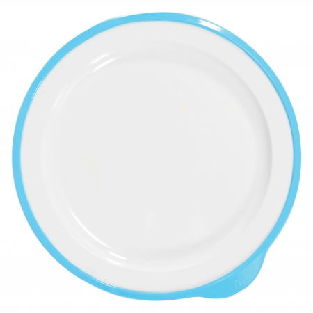 Dalebrook Omni Large Low Plates in White - Different Coloured Rims Available - 240x230x20mm - Set of 12