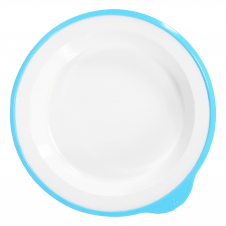 Dalebrook Omni Large Deep Plates in White - Different Coloured Rims Available - 240x230x35mm - Set of 12