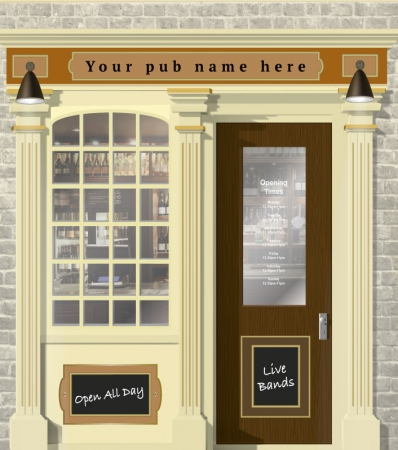 Pub or Bar Personalised Wallpaper Mural. Different sizes and colours available