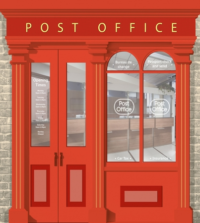 Post Office Wallpaper Mural - Different Sizes Available