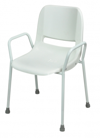Milton Stackable Portable Shower Chair - Fixed Height - White