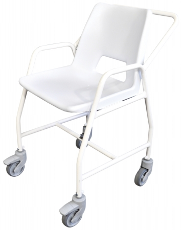 Hythe Mobile Shower Chair with Castors - Adjustable Height - 4 Brakes