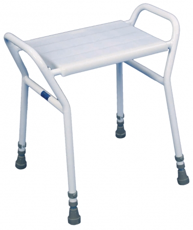 Strood Height Adjustable Shower Stool - Steel