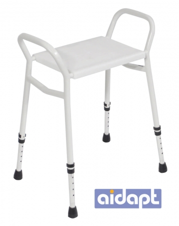 Strood Height Adjustable Shower Stool - Aluminium
