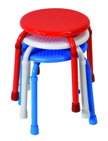 Multi-Purpose Adjustable Stool - White