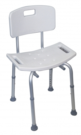Adjustable Shower Stool With Back