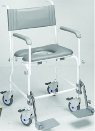 Aquamaster Attendant Propelled Shower Commode Chair - Different Sizes Available