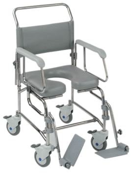 Transaqua Attendant Propelled Shower Commode Chair - Different sizes available