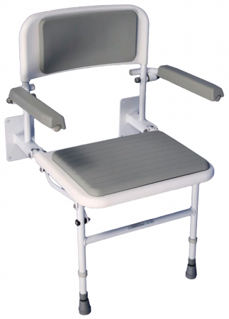 Solo Deluxe Shower Seat - With Padded Back & Seat