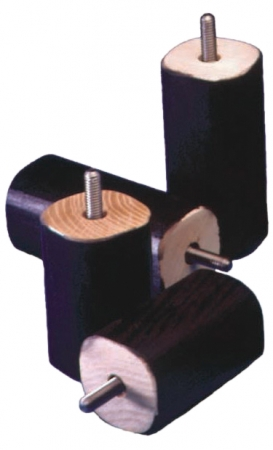 Set of 4 Screw Fixing Bed Raisers - 100mm