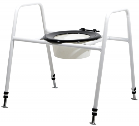 Solo Skandia Combined Bariatric Raised Toilet Seat and Frame - Free Standing or Fixed