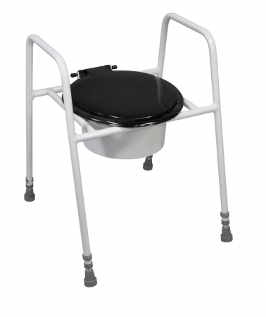 Solo Skandia Raised Toilet Frame with Seat and Lid - Standard