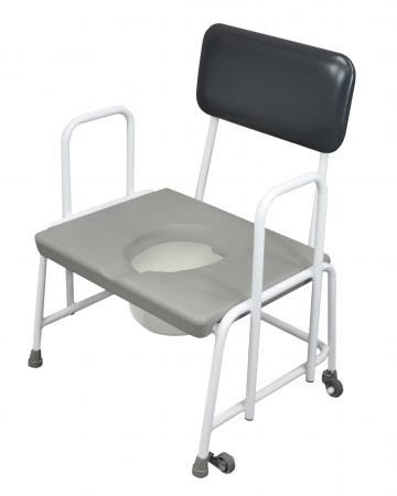 Dorset Devon and Suffolk Bariatric Commode - Seat Ht 420mm - Fixed Arms