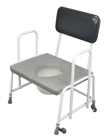 Dorset Devon and Suffolk Bariatric Commode - Seat Ht 400-545mm - Detachable Arms