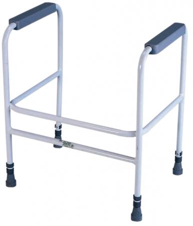 Ashford Height Adjustable Toilet Frame - Free Standing - White
