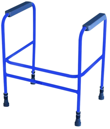 Ashford Height Adjustable Toilet Frame - Free Standing - Blue