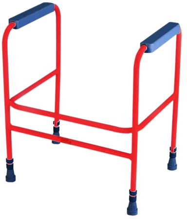 Ashford Height Adjustable Toilet Frame - Free Standing - Red