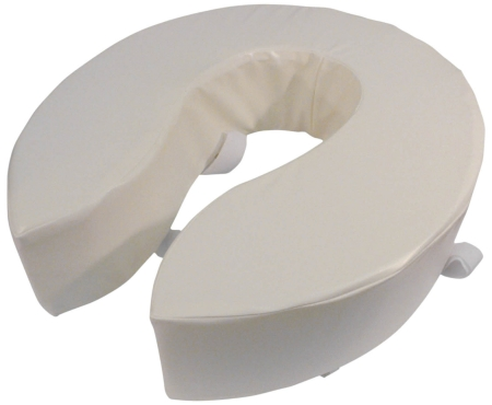 "Foam Padded Raised Toilet Seat - 4"" (100mm)"