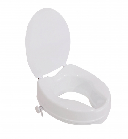 "The Viscount Raised Toilet Seat - 4"" 100mm With Lid"