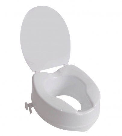 "The Viscount Raised Toilet Seat - 6"" 150mm With Lid"