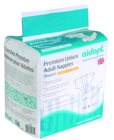 Premium Unisex Adult Nappies (Diapers) Medium or Large