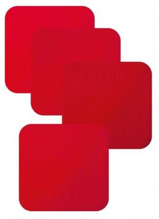 Non Slip Silicone Coaster - 90x90mm - Red