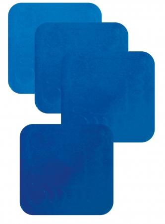 Non Slip Silicone Coaster - 90x90mm - Blue