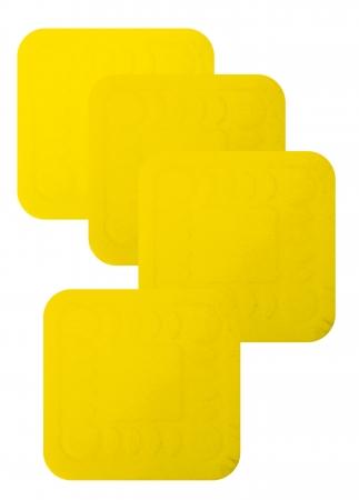 Non Slip Silicone Coaster - 140x140mm - Yellow