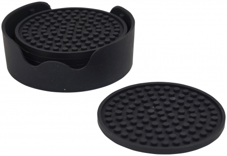 Non-Slip Silicone Table Coasters - Set of 6