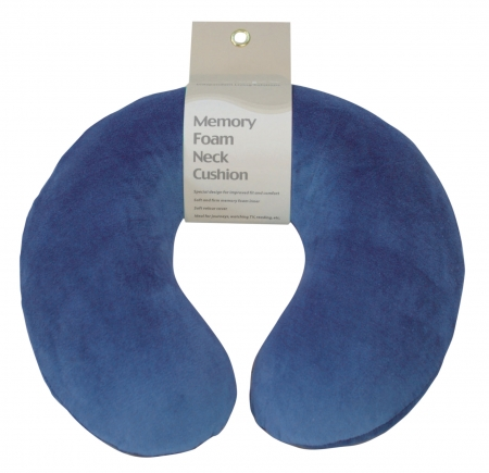 Memory Foam Neck Cushion - Different Designs and Colours Available